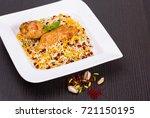rice pilafs known as zereshk...   Shutterstock . vector #721150195