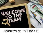 text welcome to the team on the ... | Shutterstock . vector #721155541