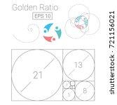 golden ratio template logo... | Shutterstock .eps vector #721156021