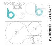 golden ratio template logo... | Shutterstock .eps vector #721156147