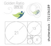 golden ratio template logo... | Shutterstock .eps vector #721156189