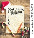 letter for santa  with santa...   Shutterstock . vector #721156291