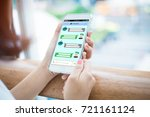 Chatbot Concept.close Up Of...