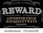 vintage font typeface ...   Shutterstock .eps vector #721162105
