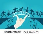 business people running over... | Shutterstock .eps vector #721163074