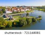 aerial view of nemiga  minsk.... | Shutterstock . vector #721168081