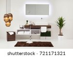 bathroom style and interior... | Shutterstock . vector #721171321