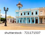 architecture of cienfuegos ...   Shutterstock . vector #721171537