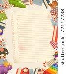 toys  paper background | Shutterstock .eps vector #72117238