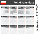 polish calendar for 2018.... | Shutterstock . vector #721173859