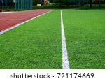 football field with artificial...   Shutterstock . vector #721174669
