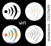 dolphin wifi circle icon | Shutterstock .eps vector #721175659