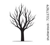 black tree. vector illustration.   Shutterstock .eps vector #721177879