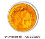 whiskey glass  top view | Shutterstock . vector #721186009