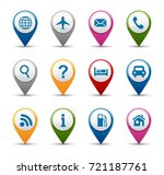 navigation and gps icon... | Shutterstock .eps vector #721187761