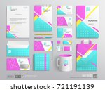 stationery corporate brand... | Shutterstock .eps vector #721191139