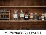 old science workbench with... | Shutterstock . vector #721193011