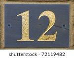 twelve street number | Shutterstock . vector #72119482