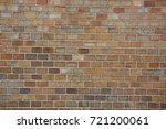 red brick wall background | Shutterstock . vector #721200061