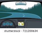 car on the road  a view from... | Shutterstock .eps vector #721200634