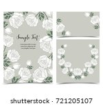 background with white roses | Shutterstock .eps vector #721205107