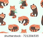 vector seamless pattern with... | Shutterstock .eps vector #721206535