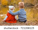 small friends sister and... | Shutterstock . vector #721208125
