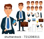 business man in formal suit ... | Shutterstock .eps vector #721208311