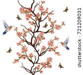 seamless vector floral pattern... | Shutterstock .eps vector #721209031