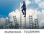 career concept with businessman ... | Shutterstock . vector #721209394