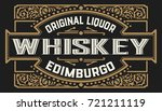 old whiskey label | Shutterstock .eps vector #721211119