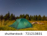 touristic camp on a forest... | Shutterstock . vector #721213831