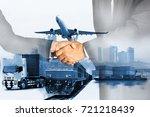 success business of global... | Shutterstock . vector #721218439