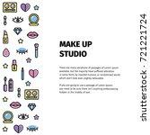 make up logo for beauty studio. ... | Shutterstock .eps vector #721221724