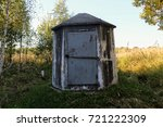 Small photo of A small concrete structure for servicing the gas main.