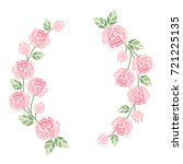 background with pink roses | Shutterstock .eps vector #721225135