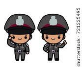 thai polices in uniform  salute ... | Shutterstock .eps vector #721225495