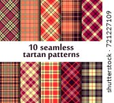 10 Seamless Tartan Patterns