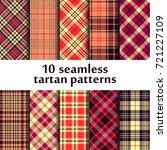 10 seamless tartan patterns | Shutterstock .eps vector #721227109