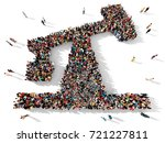 large and diverse group of... | Shutterstock . vector #721227811