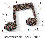 large and diverse group of... | Shutterstock . vector #721227814