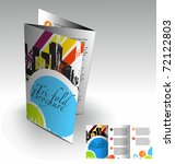 tri fold brochure design... | Shutterstock .eps vector #72122803