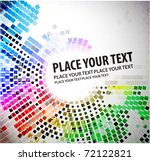 abstract mosaic background with ... | Shutterstock .eps vector #72122821