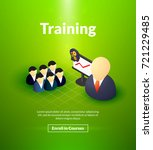 training poster of isometric... | Shutterstock .eps vector #721229485