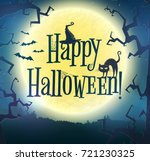 happy halloween  vector...   Shutterstock .eps vector #721230325