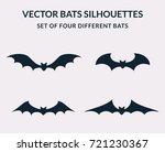vector bats silhouettes... | Shutterstock .eps vector #721230367