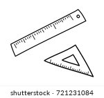 measuring tools   ruler and... | Shutterstock .eps vector #721231084