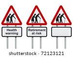 seniors elderly health and... | Shutterstock . vector #72123121
