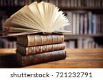 books in library concept for... | Shutterstock . vector #721232791