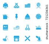 set of 16 handcraft icons set... | Shutterstock .eps vector #721236361